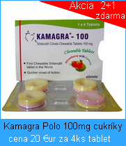 Liek Kamagra Polo žuvacie 100mg